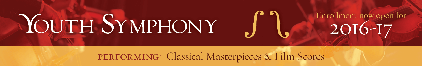 Youth Symphony at Castle Rock Music  |  Enrollment now open for 2016-17 Season  |  Performing: Classical Masterpieces & Film Scores  |  To Enroll Contact Alan: alan@castlerockmusic.com